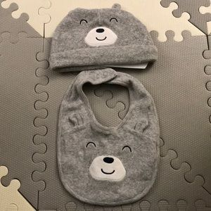 Never Used hat and bib